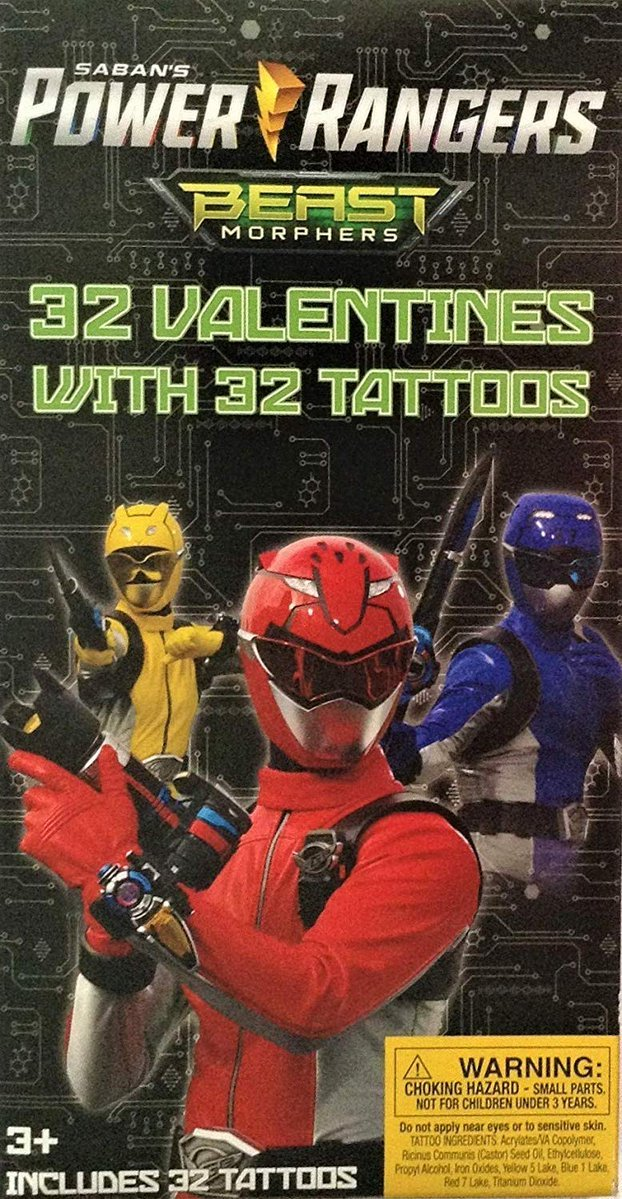 POWER RANGERS Beast Morphers Valentines Cards