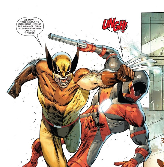 Major X and Wolverine gith in Major X #1