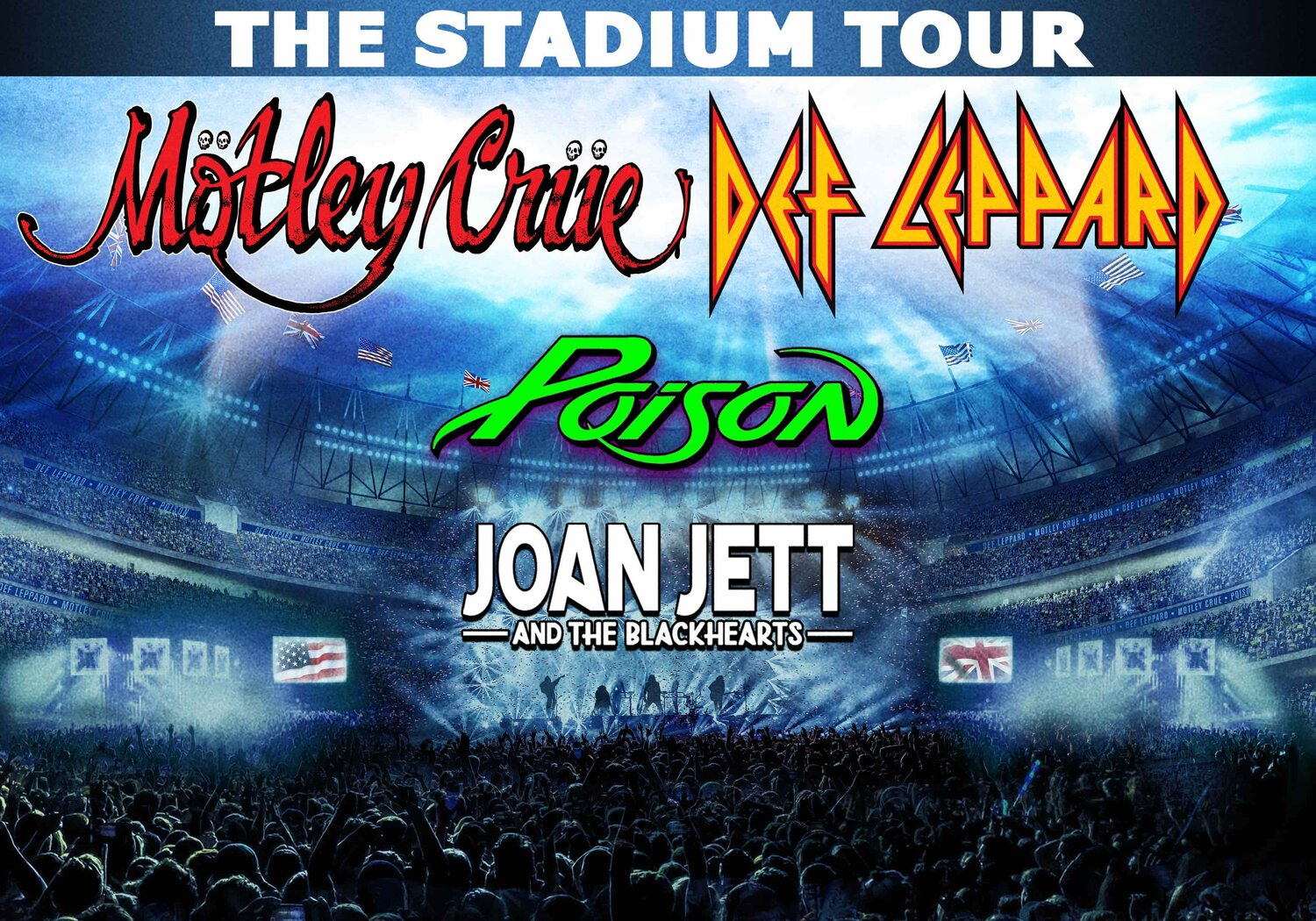 Motley Crue To Tour With Def Leppard, Poison, and Joan Jett