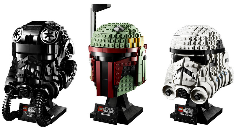 LEGO: Boba Fett, Stormtrooper and TIE Fighter Pilot Helmets Available Now For Pre-order
