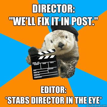 Stop hiring sea otters to direct movies.
