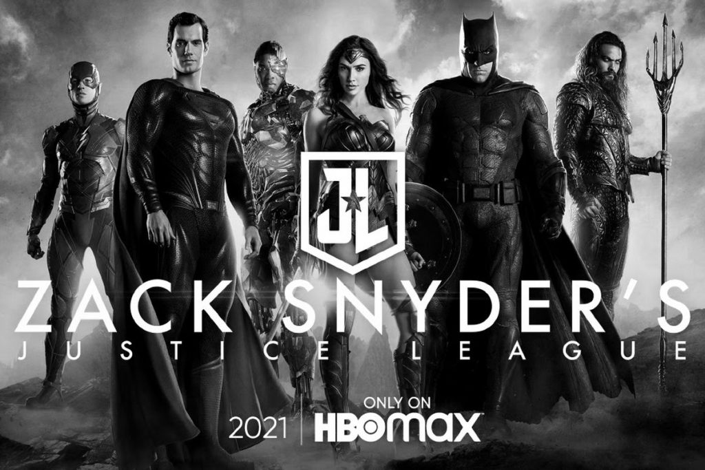 Black and white Justice League.