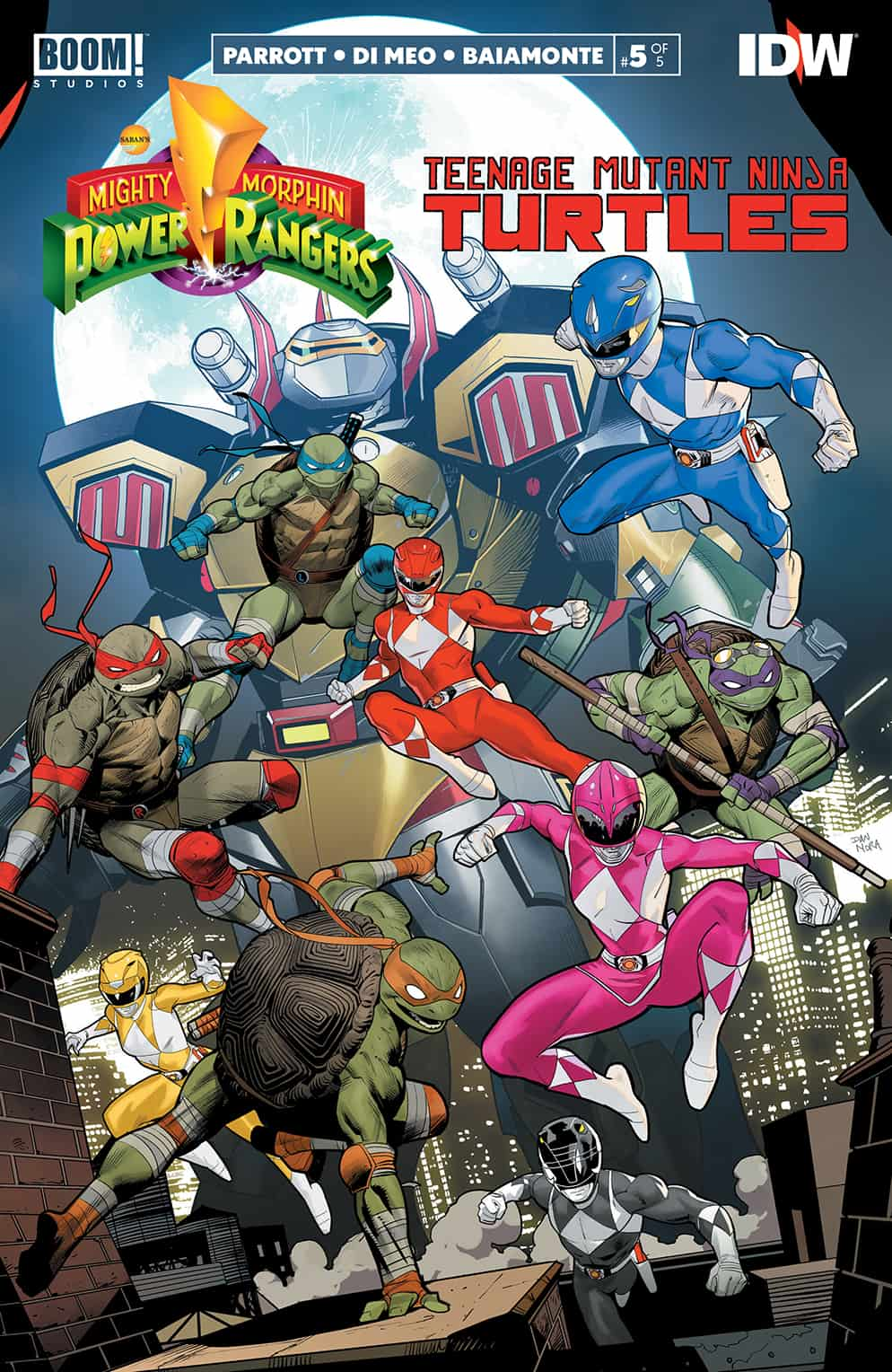 Power Rangers/TMNT #5 Review
