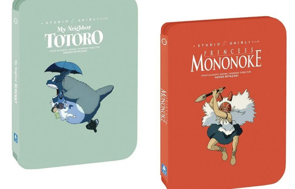 My Neighbor Totoro and Princess Mononoke Steelbook Blu-Ray special editions from Studio Ghibli