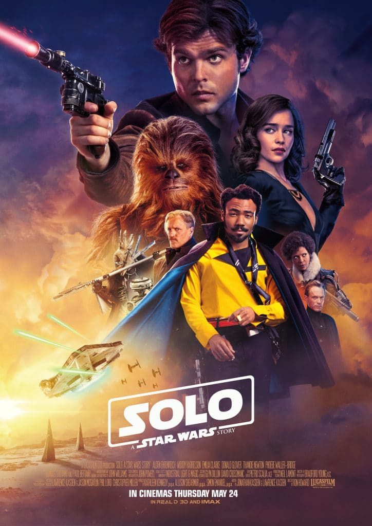 The UK poster for Solo, which looks a lot cooler than the US's.