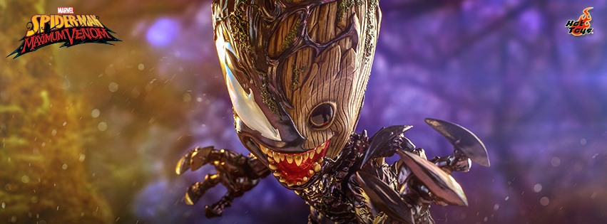 Spider-Man Maximum Venom: Venomized Groot Life-Size Figure by Hot Toys Coming Soon
