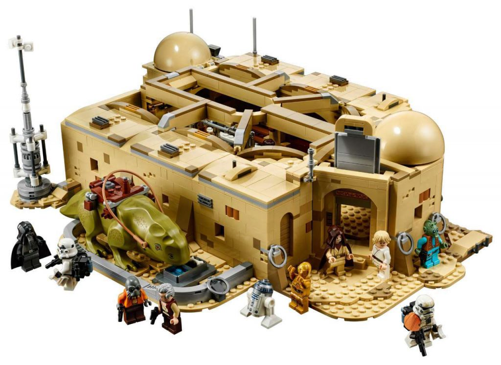The exterior of the Cantina LEGO set.