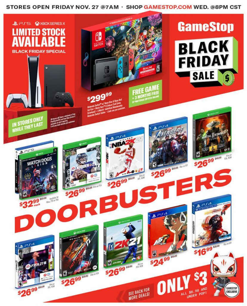 GameStop Black Friday ad.