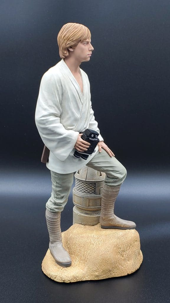 Luke Statue Side View