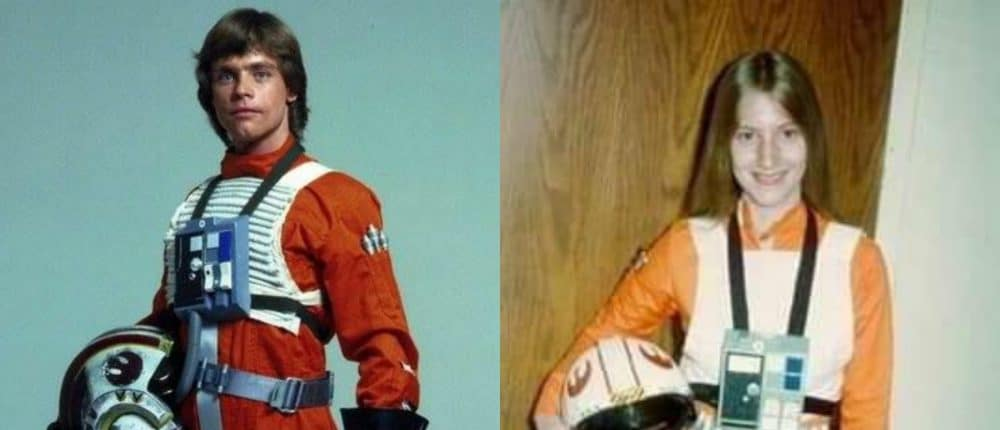 Mark Hamill Reacts To  Woman's 1977 X-Wing Pilot Costume