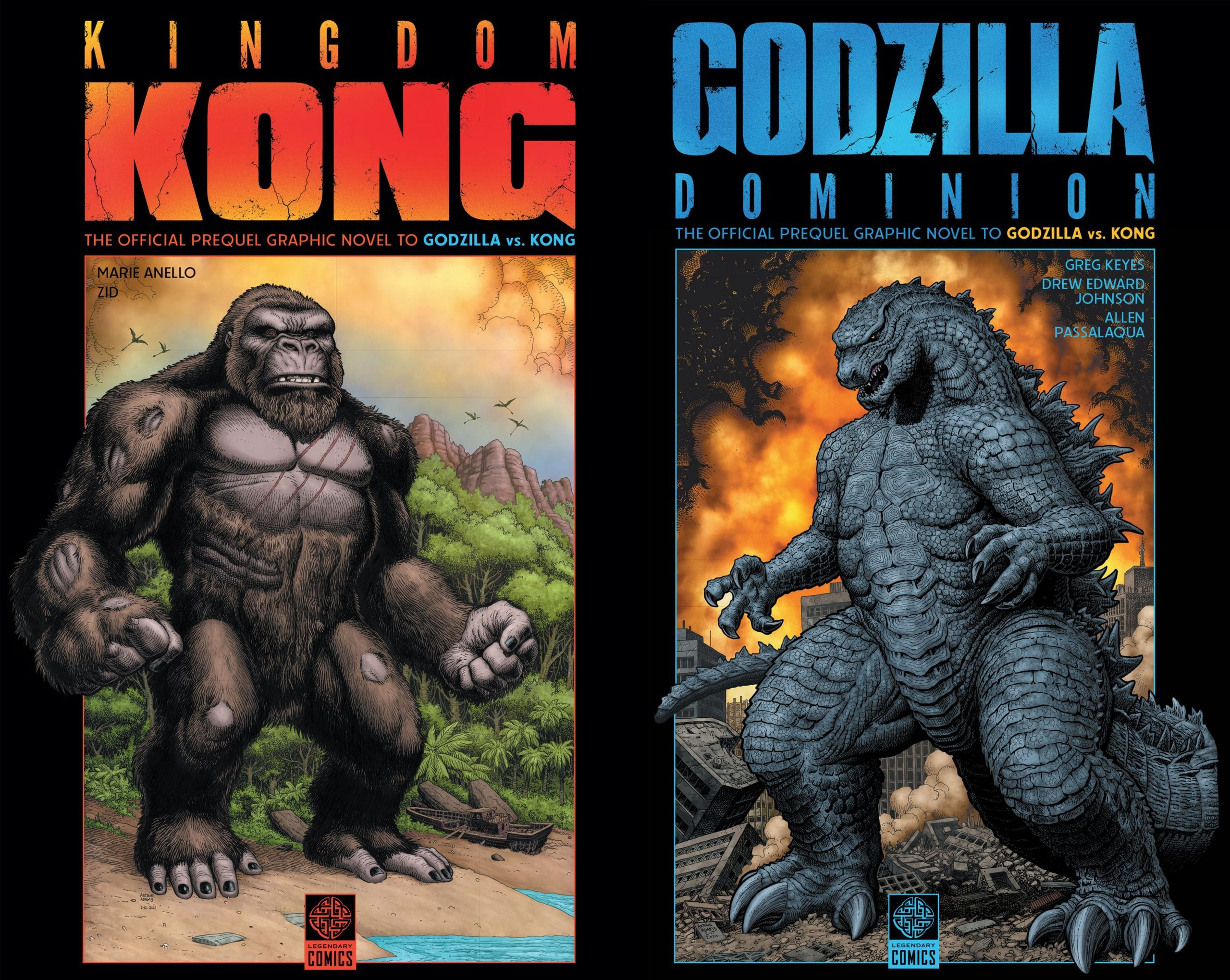 New Godzilla vs. Kong Comic Book Covers Unveiled by Legendary Comics