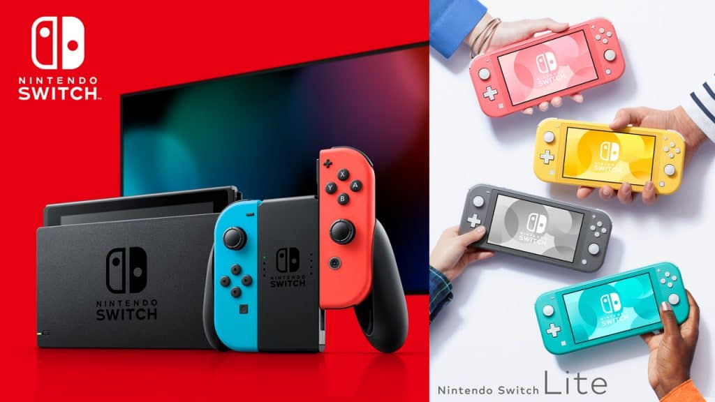 Nintendo Switch and Switch Lite.