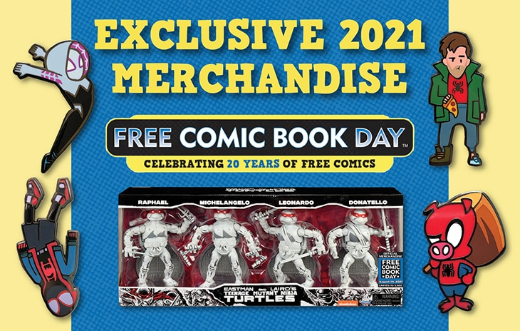 TMNT, MMPR, G.I. Joe, & Spider-Man Will Highlight Free Comic Book Day Merchandise