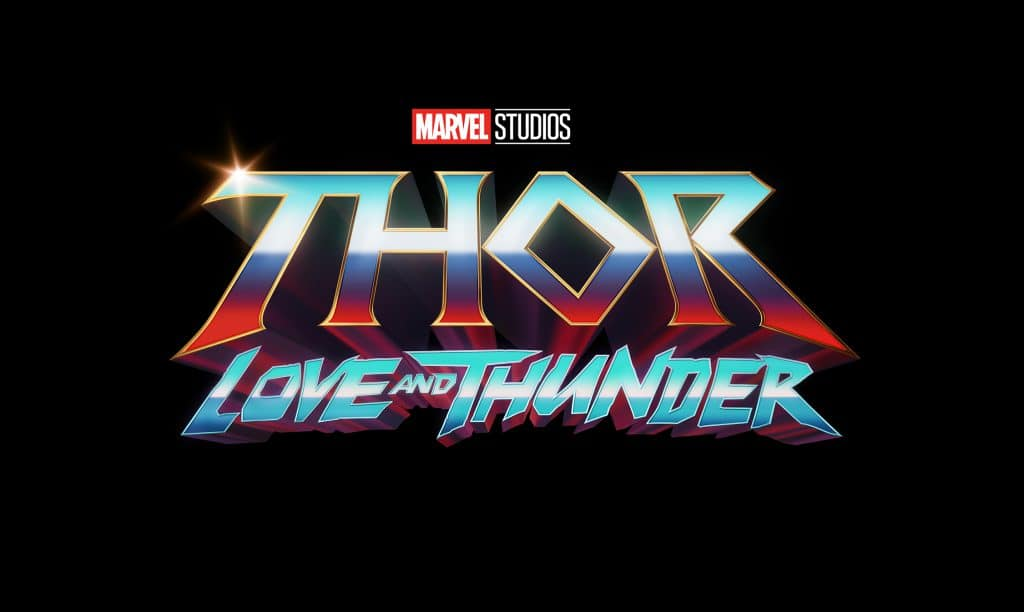 Thor: Love and Thunder logo.